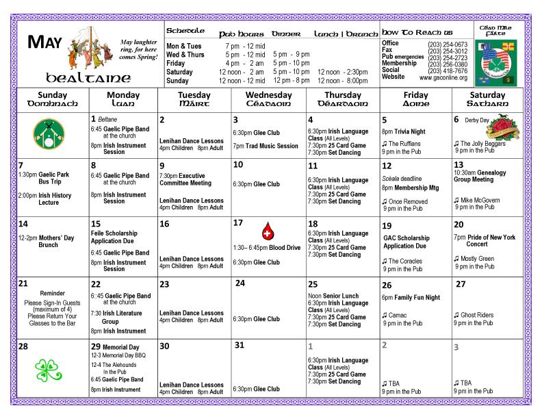 Gaelic calendar